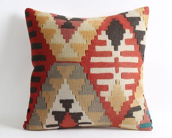 kilim cushion wool pillow vintage young living pillow cases rustic hippie home decor patio chair cus