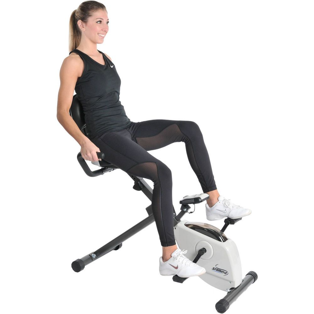 Details about Folding Magnetic Upright Exercise Bike Fitness