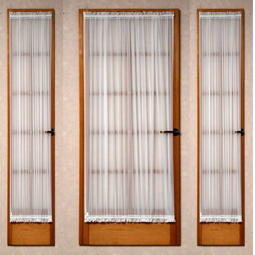 Perfect Batiste Sheer French Door Curtain Panel With Tieback By Stylemaster®