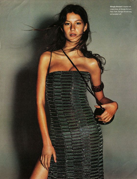 """Gisele for W magazine June 1999 """"Wild Orchids"""" by Michael Thompson."""