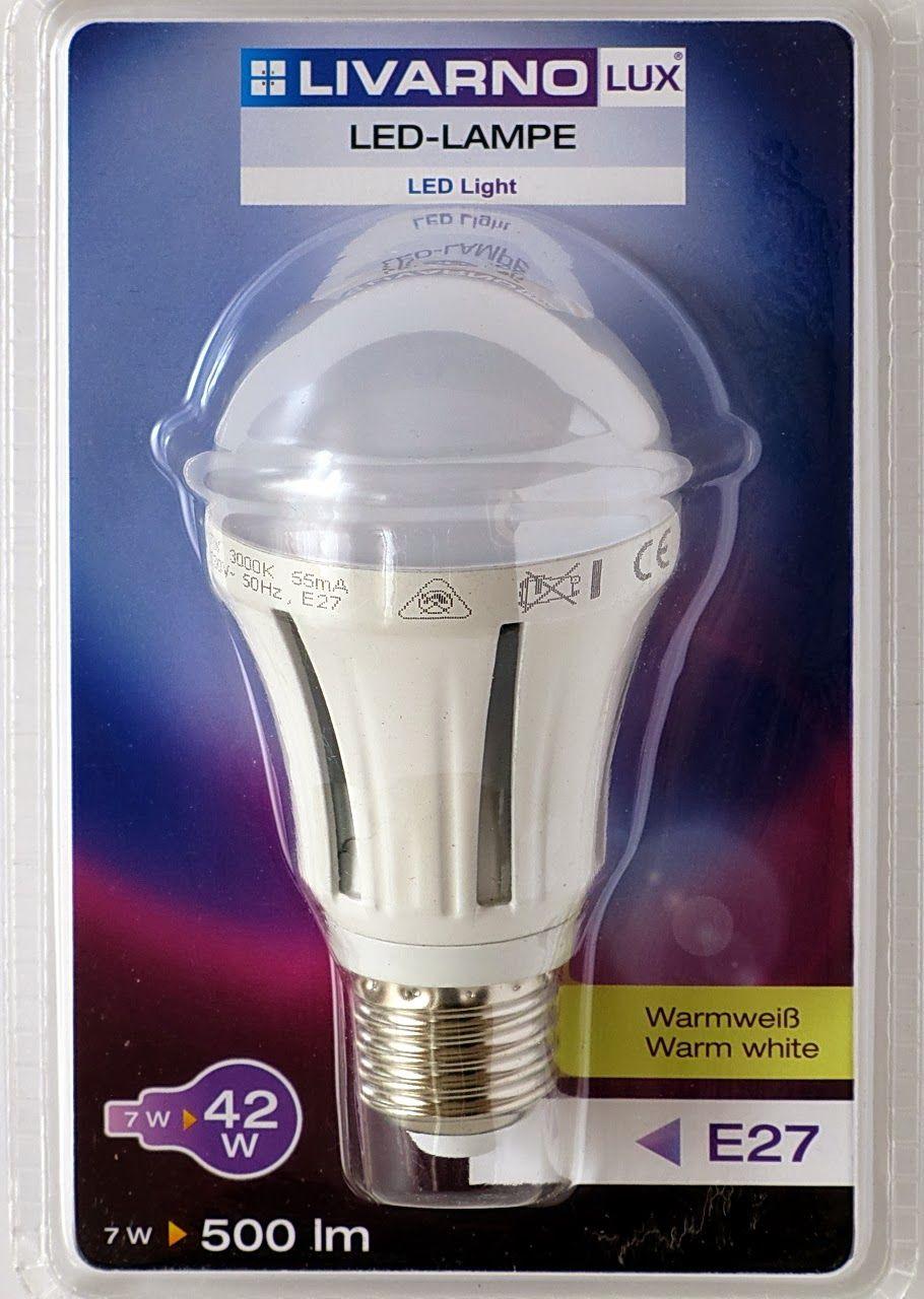 Livarno led night light - Livarno Lux Led Lamp 7w E27 Lidl