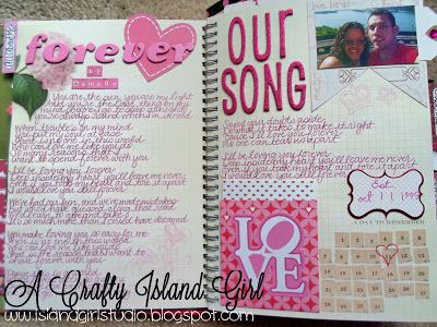 Pretty Pink Smashbook Our Love Song