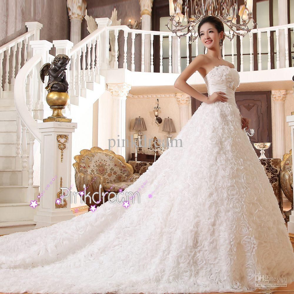 gown wedding dresses with long trains long train bridal dress