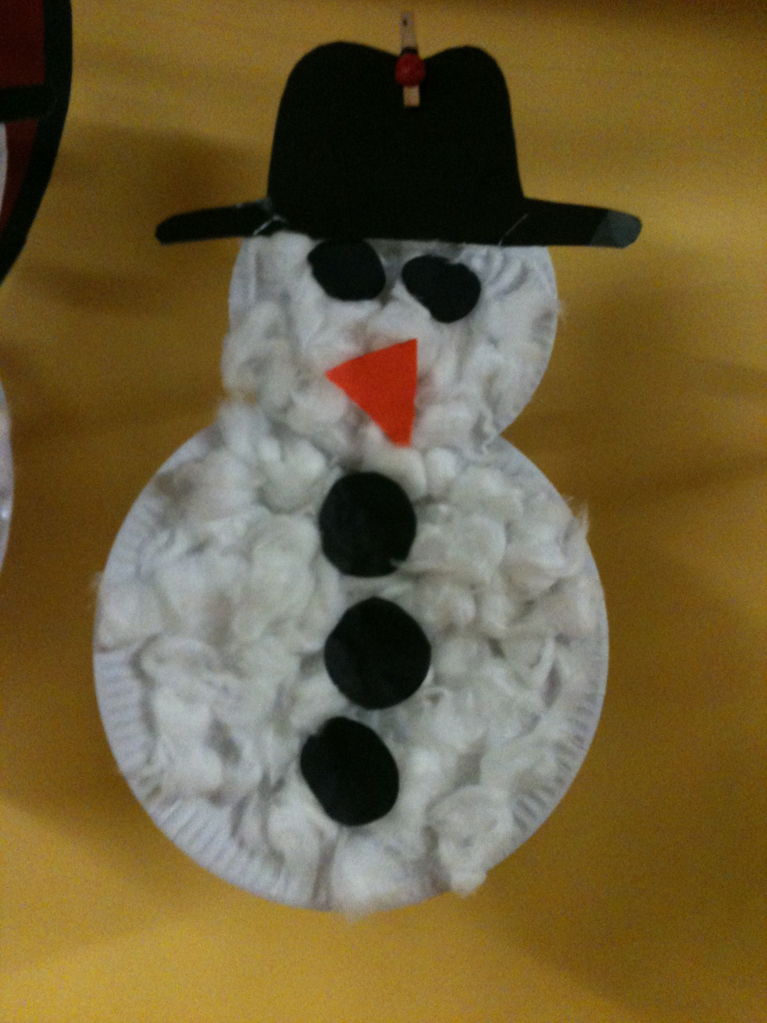 Our cute Cotton wool snowmen :-) really simple for the younger children :)