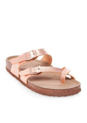 f429b424a0e1 Madden Girl Rose Gold Bryceee Toe Ring Sandal