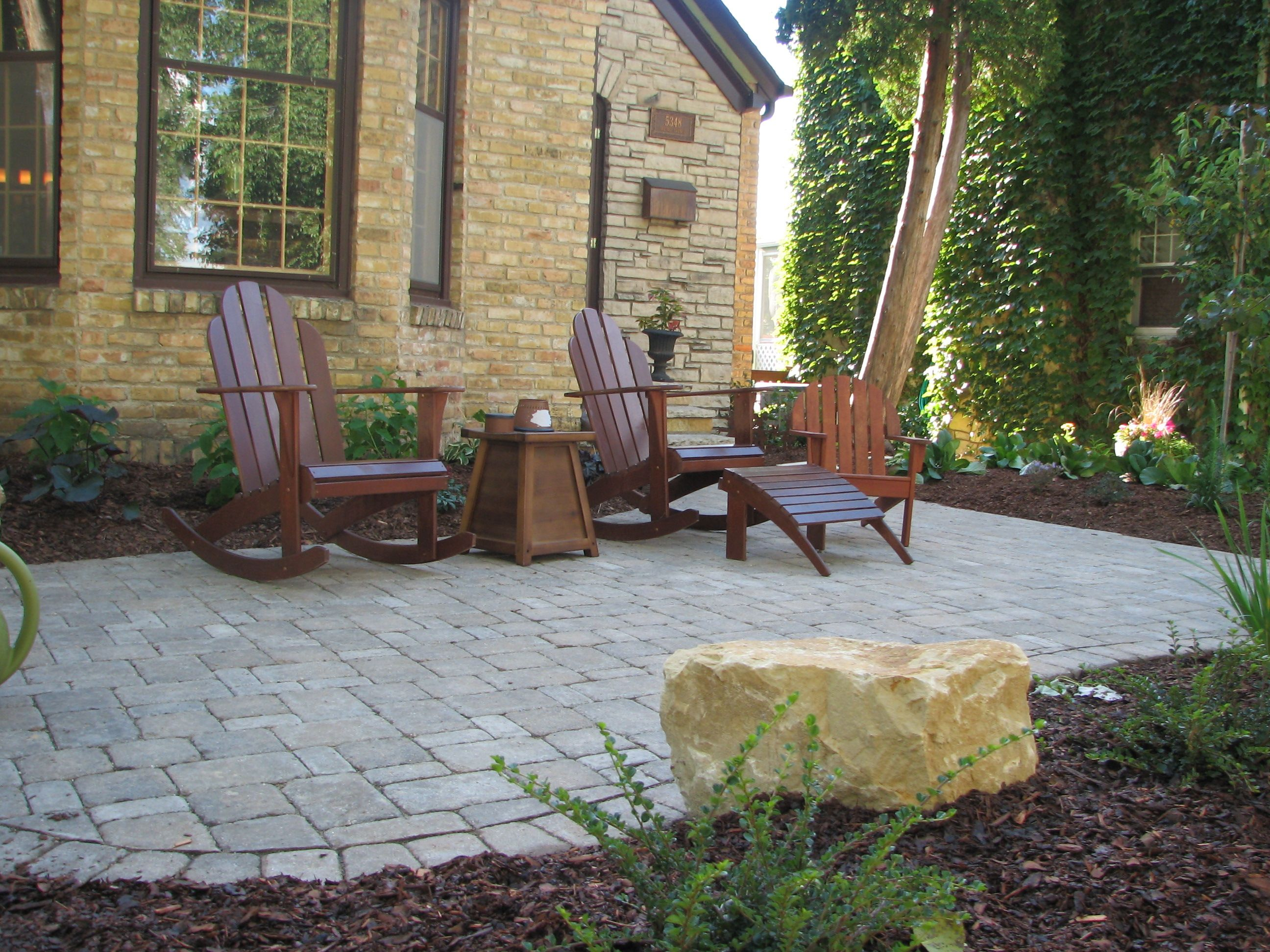 Front Yard Entrance Patios Ecoscapes Sustainable