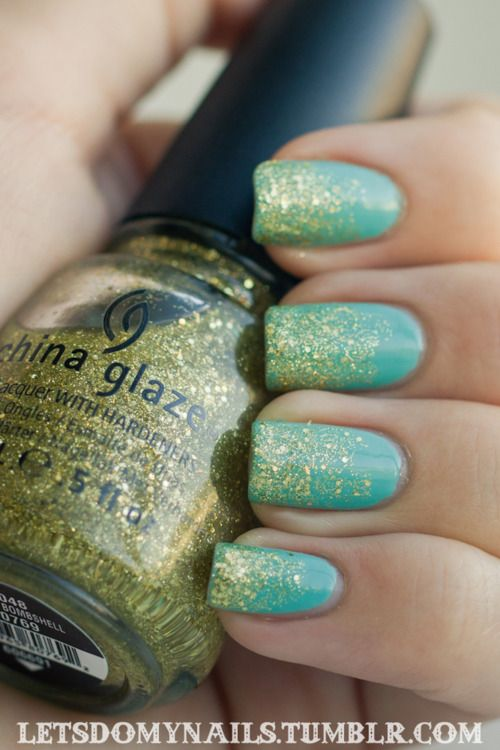 Top Coat: Seche Vite Color: China Glaze Blonde Bombshell over China ...