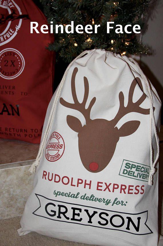 3fc8747e37a Blank Santa Sack Personalized Santa Sack Christmas Gift | Bag ...