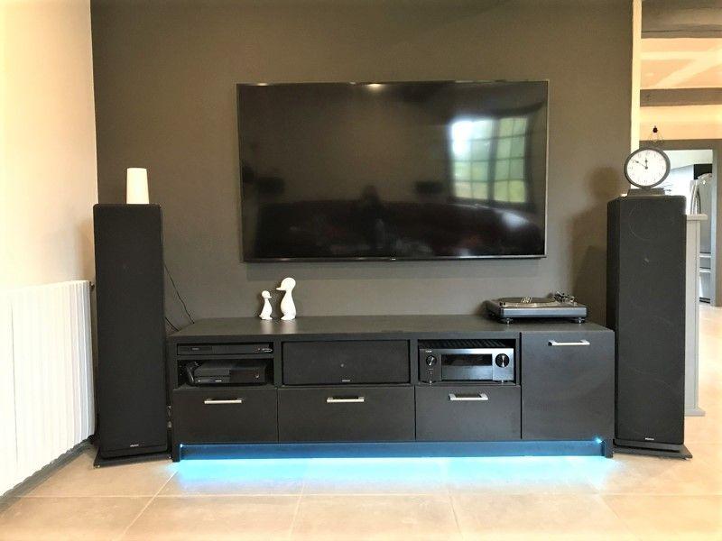 meuble tv noir sur mesure meuble tv