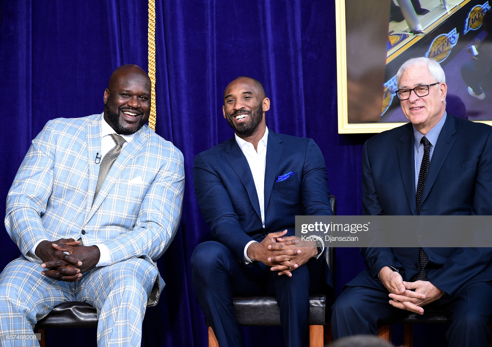 Former Los Angeles Lakers Players Shaquille O Neal Kobe Bryant And In 2020 Shaquille O Neal Los Angeles Lakers Players Kobe Bryant