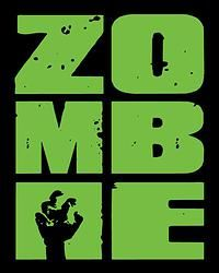 ZOMBIE Stacked Green; 8 x 10 Print