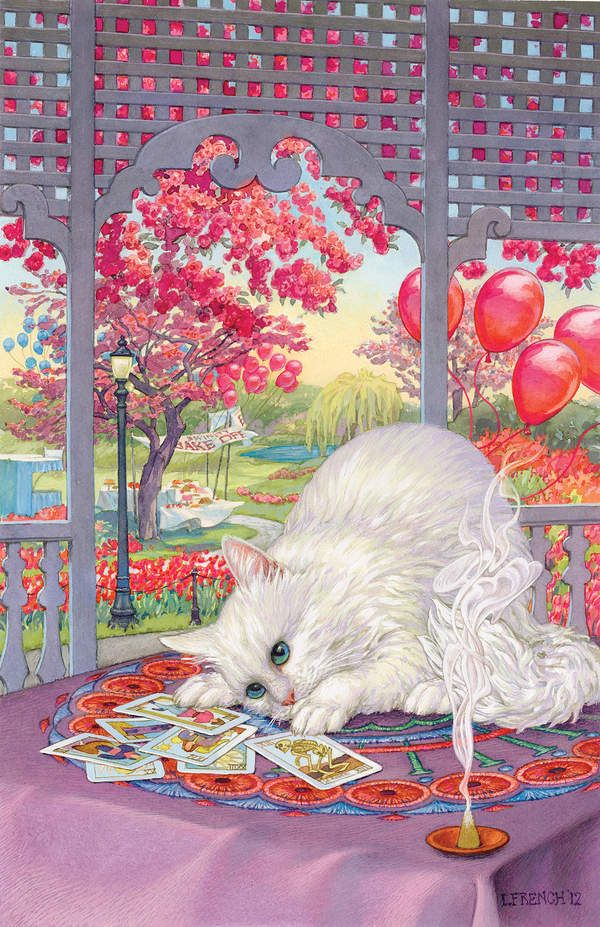 Tarot Cat by Lisa French imagens)