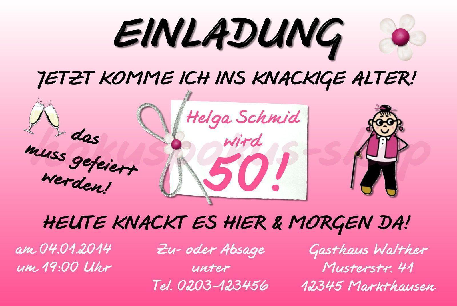 Einladung 50 Geburtstag Lustig Einladungskarten 50 Geburtstag