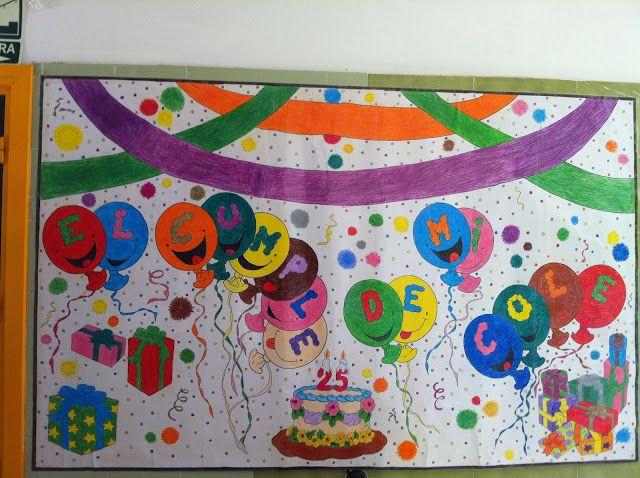 Pin De Geraldine Jara En Murales Aniversario De Colegio
