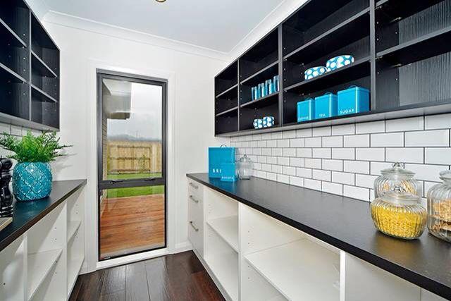 White Tile Black Grouting Subway Tiles Butlers Kitchen