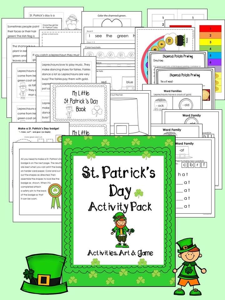 St. Patrick\'s Day with Craft, Mini Book and Game | Morning work ...