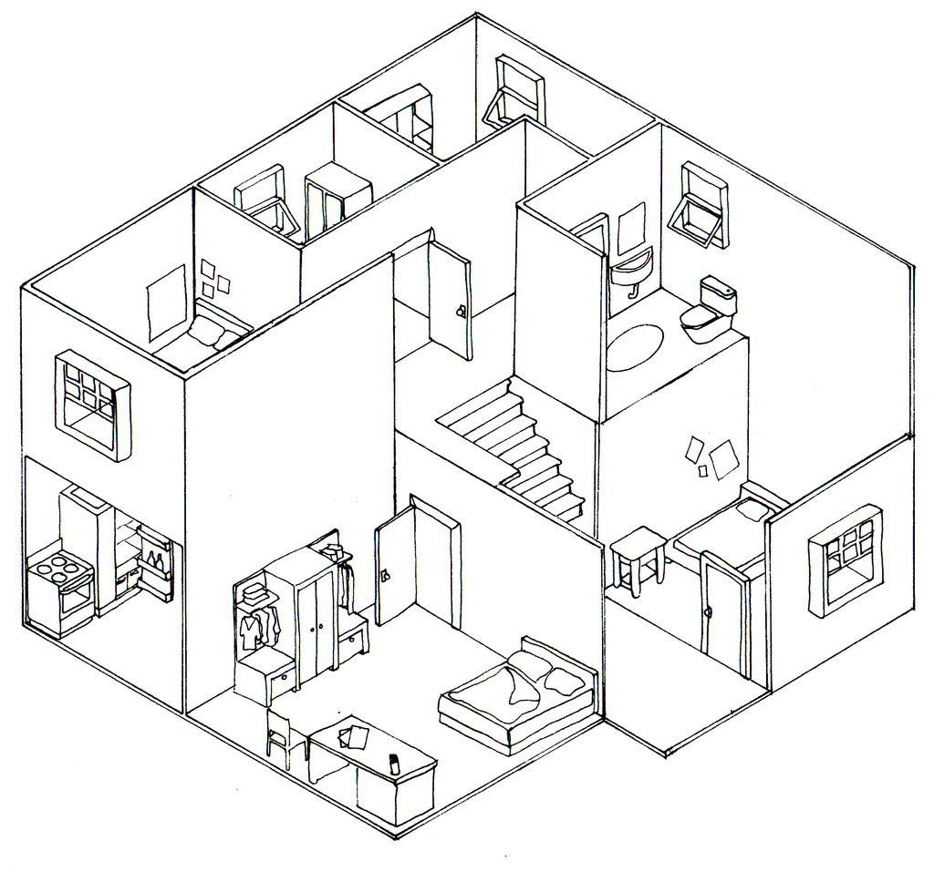 Isometric House Drawing At Getdrawings Com Free For Personal Use