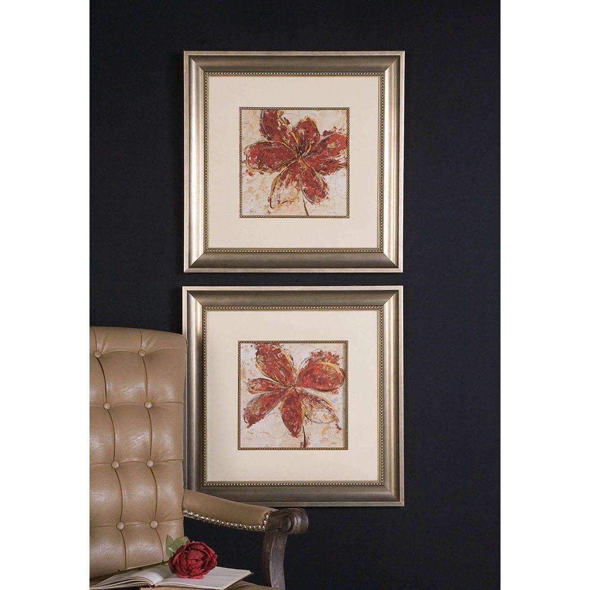 Uttermost Floral Gesture Framed Art Set of 2 33569   Uttermost ...