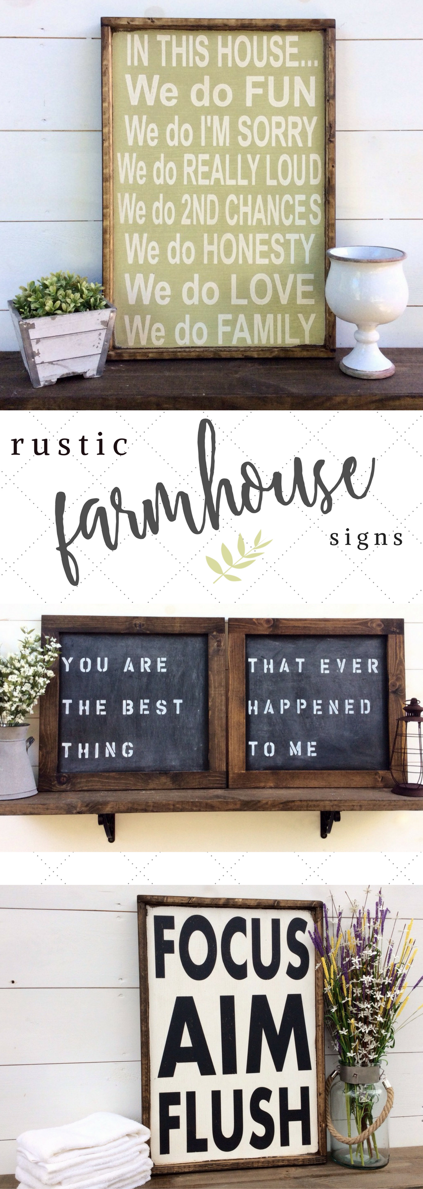 Love these handmade farmhouse signs!! So cute for bedroom