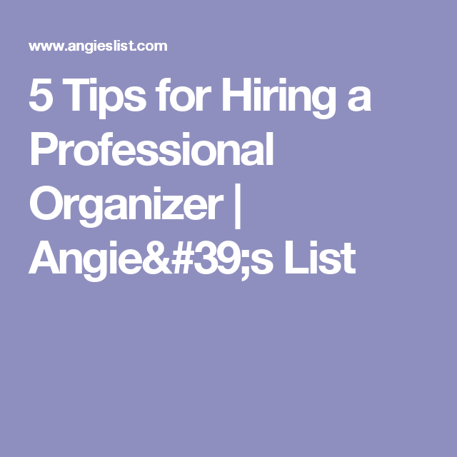 Attirant 5 Tips For Hiring A Professional Organizer