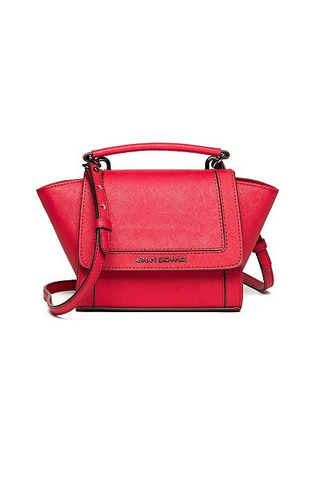6329cc38ca38 Armani Exchange Mini Satchel in rogue red.