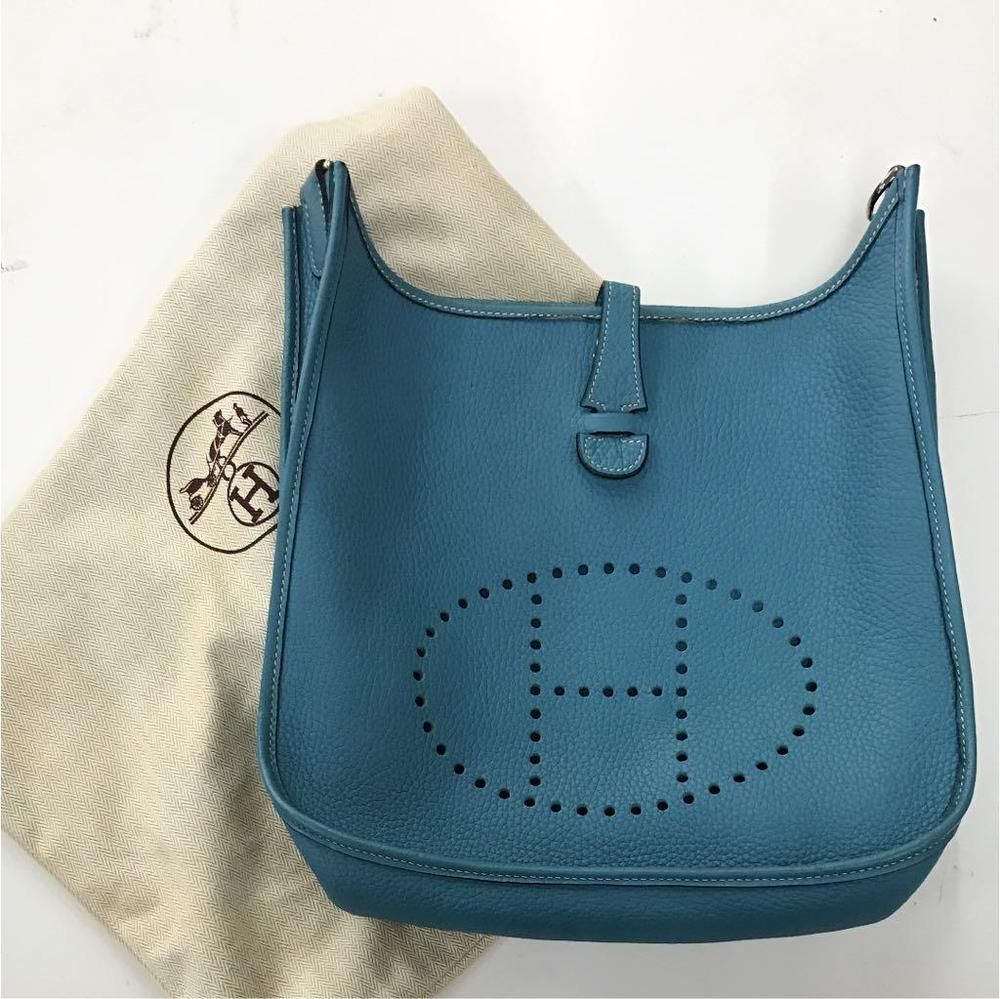 5130d138a5 HERMES Evelyne PM Bluejean Blue Leather H Shoulder Bag Used Without Strap   fashion  clothing  shoes  accessories  womensbagshandbags (ebay link)