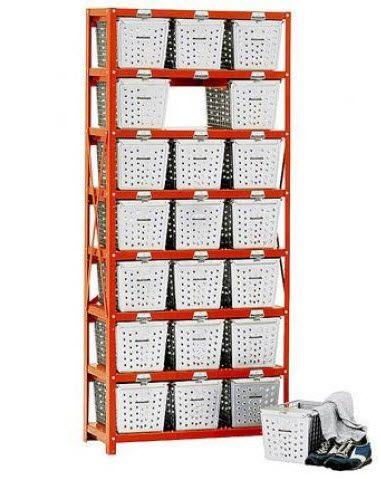 Industrial Chic Locker Basket Rack