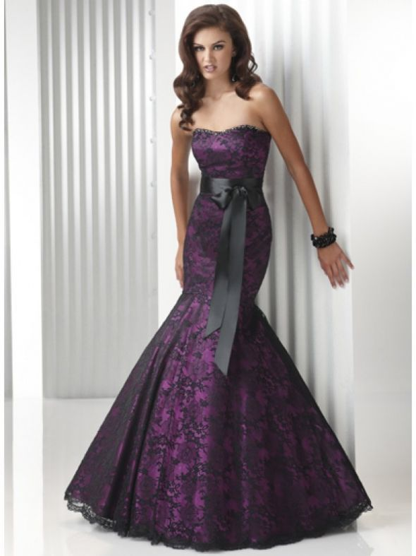 Evening Gowns Purple Lace Mermaid Style Suggestions Where To Wedding Dress Gown Reception Lace1