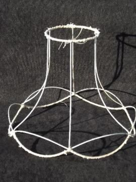 Wire Lampshade Frames Adorable Vintage Wire Lamp Shade Frame For Bell Shape Old Victorian Lampshade Inspiration Design