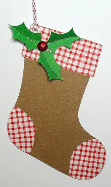 Christmas Stocking Tag By Birdscards Cards And Paper