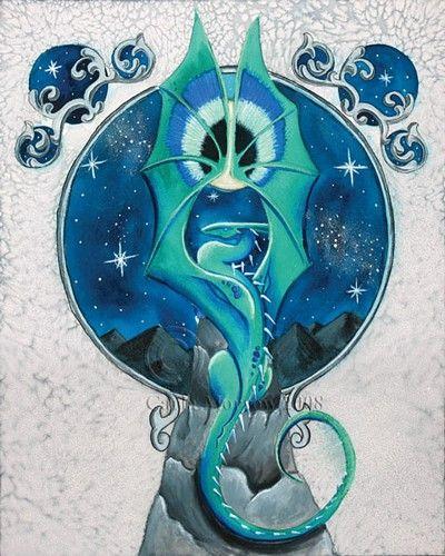 Eye of the Goddess dragon by Carla Morrow