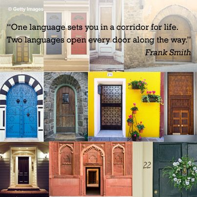 Image result for one language sets you in a corridor for life