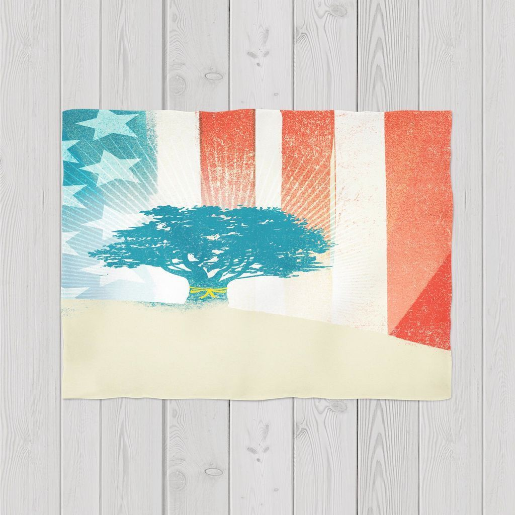 Patriotic tree products pinterest fleece throw and products