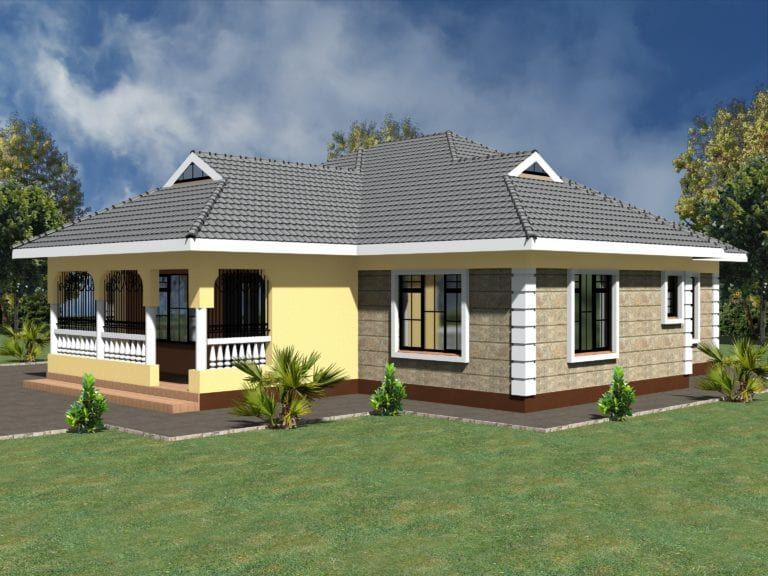 Simple 3 Bedroom House Plans Without Garage 1 In 2020 Bungalow House Design My House Plans Model House Plan