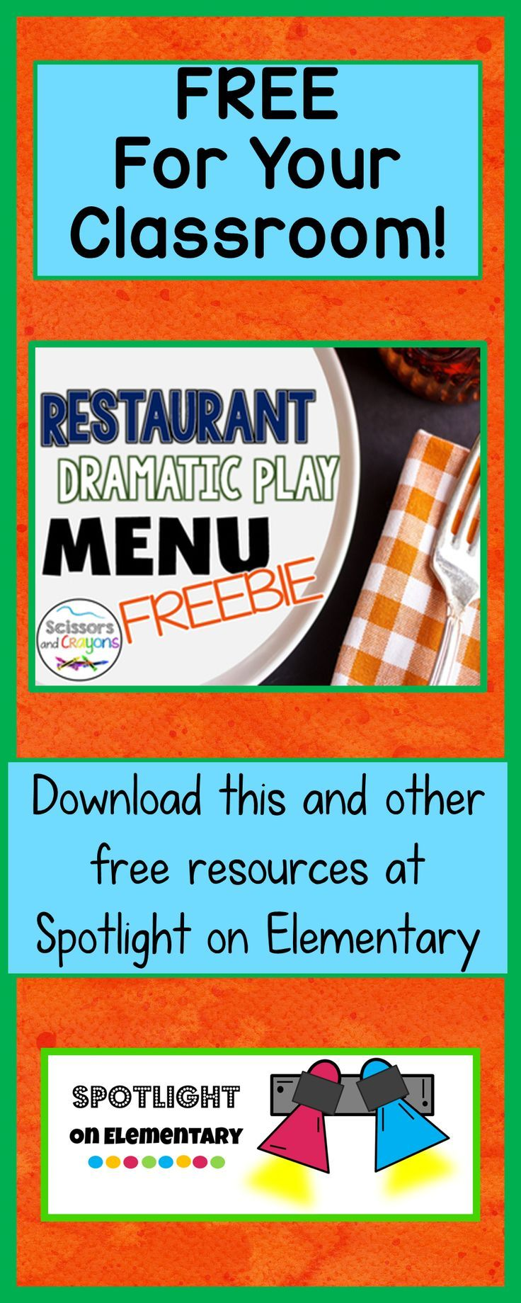 Free dramatic play menu for your classroom. Your students will have ...