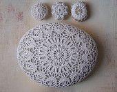 crocheted stone via monicaj on etsy