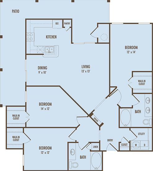The Portofino Floor Plans Apartments