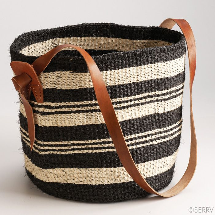 Black And White Sisal Bag