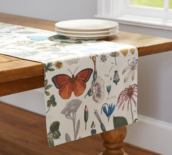 Poppy Botanical Table Runner | Pottery Barn