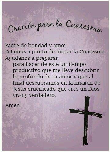 Miércoles De Ceniza Oraciones De Cuaresma Cuaresma Y