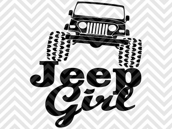 Download Jeep Girl Jeep Wrangler SVG and DXF Cut File • PNG ...