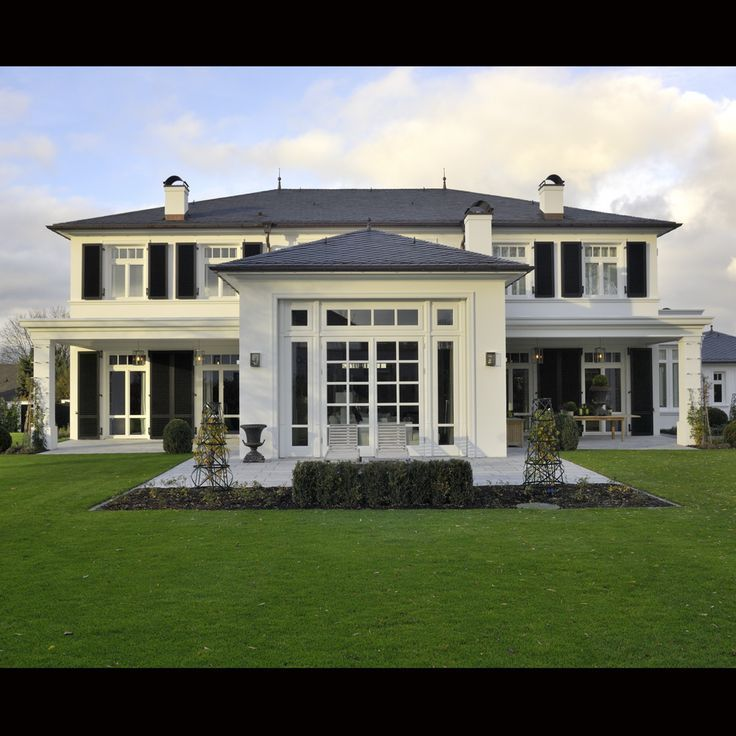 This Home Is Just Beautiful. Classic White And Black