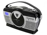 Soundmaster Black Retro Style CD/MP3 Player - Konerauta.fi