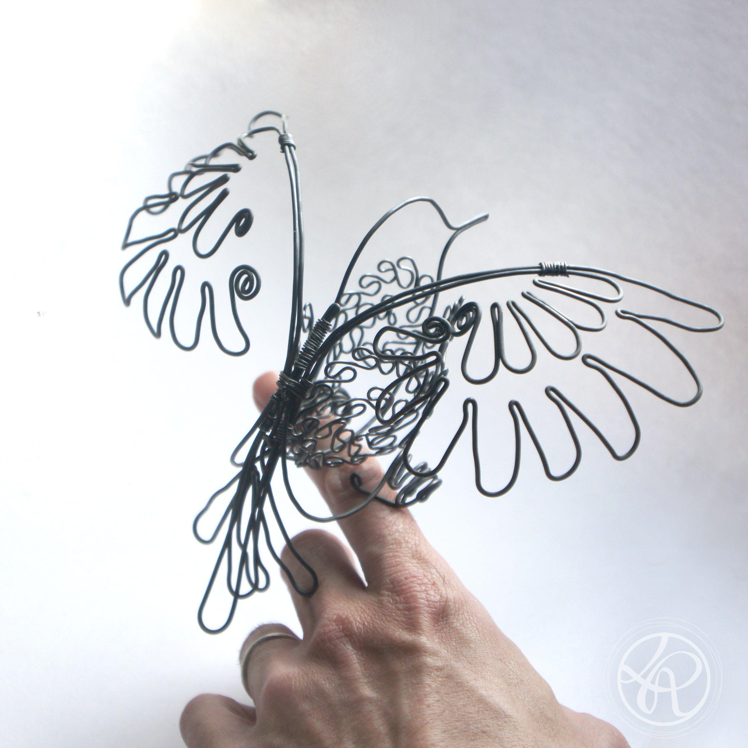 sculpture mobile oiseau fil de fer sculpture fil de fer pinterest inspiration. Black Bedroom Furniture Sets. Home Design Ideas