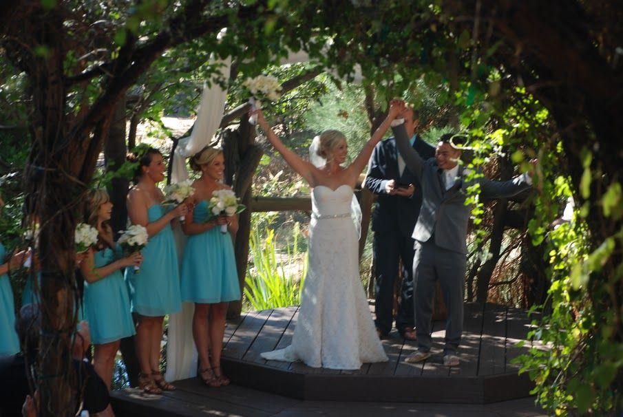 Congrats, Lisa & Dickens! At Hidden Creek, SoCal Lake Arrowhead's premier forest wedding venue! #PineRoseWedding