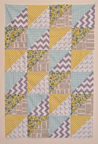 Sew Lux Fabric and Gifts Blog: Design Challenge Tutorial : Quick Triangles Baby Quilt