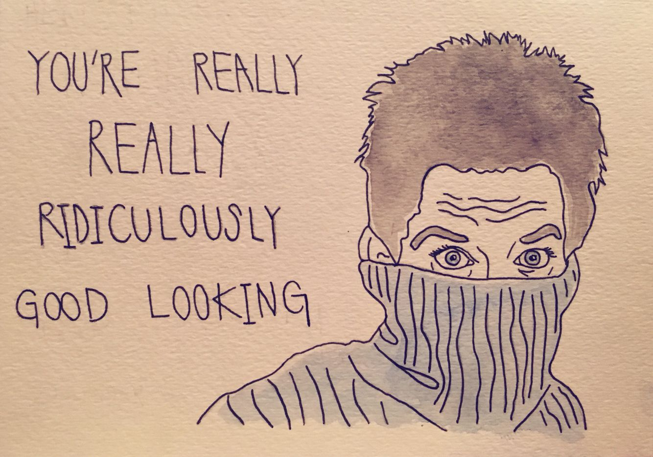 Funny Zoolander Quote And Illustration Zoolander Quotes How To Look Better Male Sketch