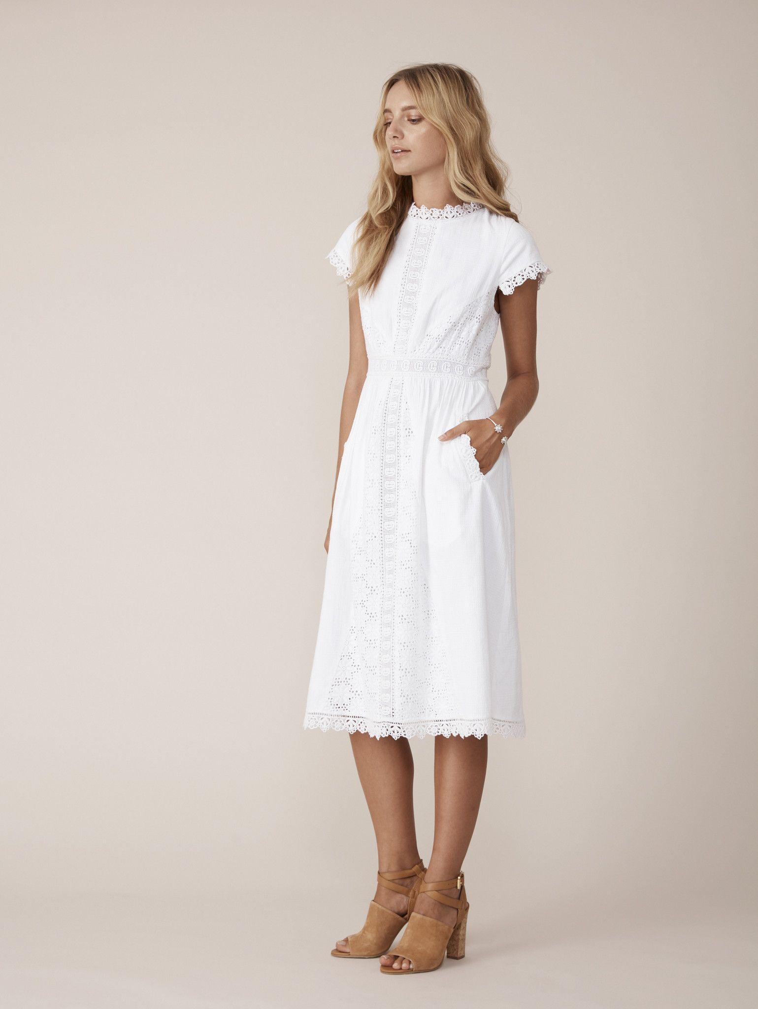 Binny - - Victoria Simple Cotton Broderie Dress | Binny ...