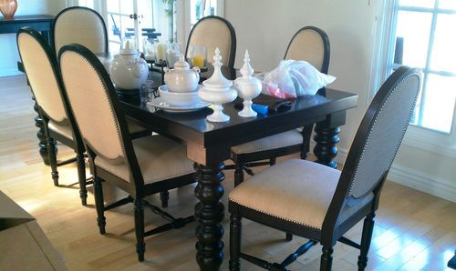 Beautiful Drexel Heritage Wellsley Dining Table 6 Chairs
