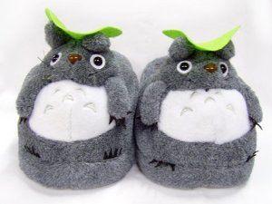 bfdecbcb83b7 Amazon.com  Totoro  Soft Gray Totoro Plush Slippers  Toys   Games ...